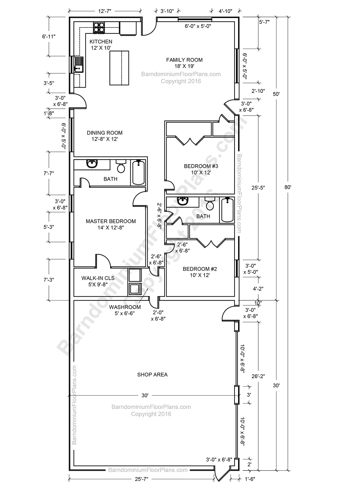 Barndominium floor plans pole barn house plans and metal for Floor plans for pole barn homes
